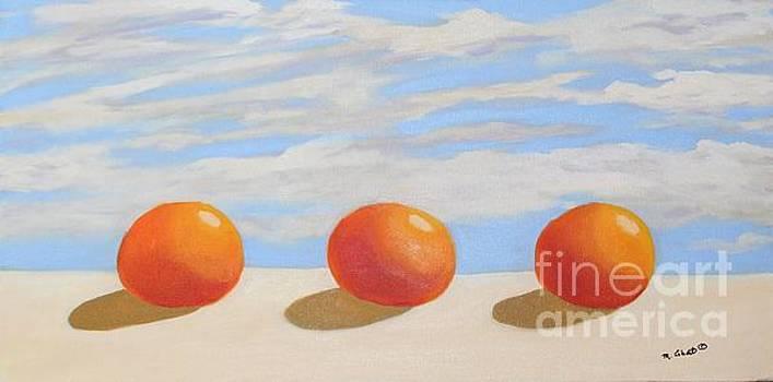 Mary Erbert - Oranges on a Ledge
