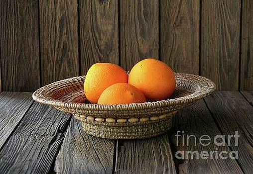 Still life with oranges by Dodie Ulery