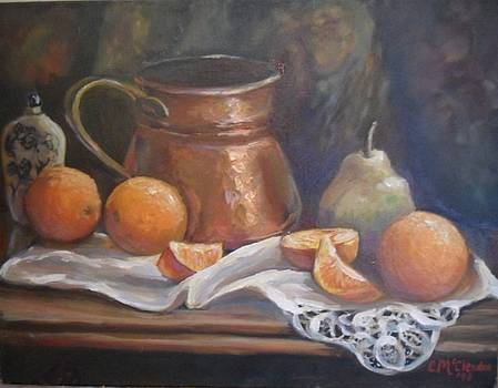 Oranges still life by Sherry McClendon
