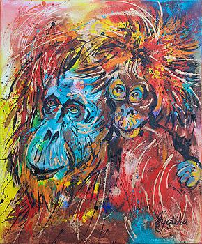 Orangutan Joyful Ride  by Jyotika Shroff