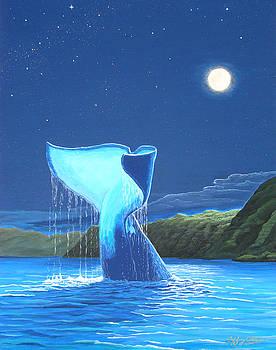 Orca Fluke by Jeffrey Oldham