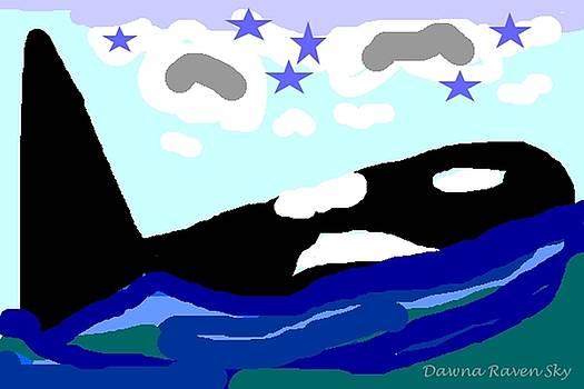 Orca Star by Dawna Raven Sky