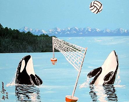 Orca Whale Volleyball by Teo Alfonso