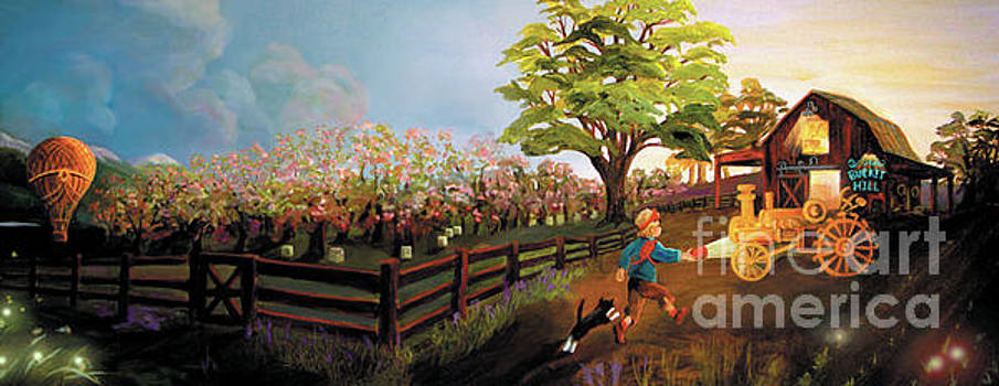 Orchard and Barn by Donna Hall