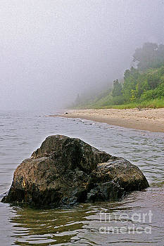 Orchard Beach Rock by Randy Pollard