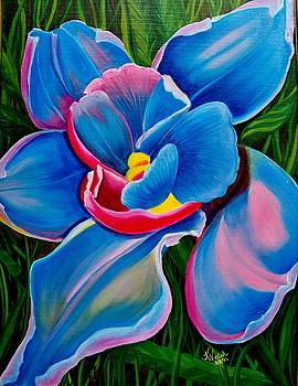 Orchid in Blue by Kathern Welsh