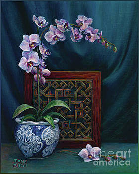 Orchids in a Chinese Pot by Jane Bucci