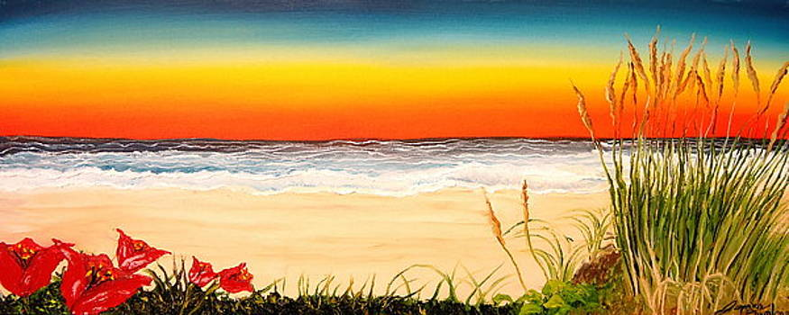 Oregon Coast At Sunset by Portland Art Creations