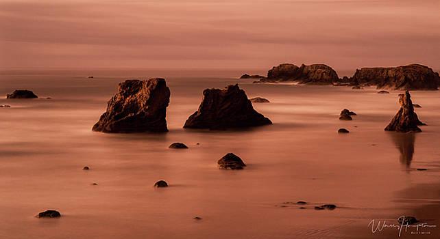 Oregon Coast Sunset - 8710-A by Wally Hampton