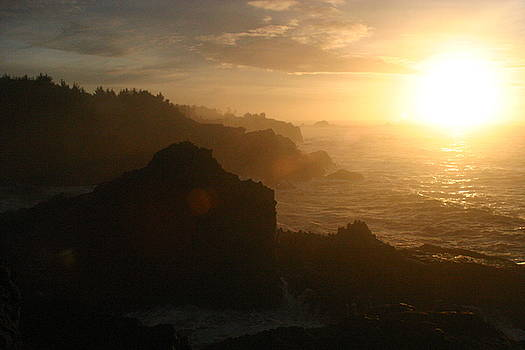Oregon Coast Sunset by James Thompson
