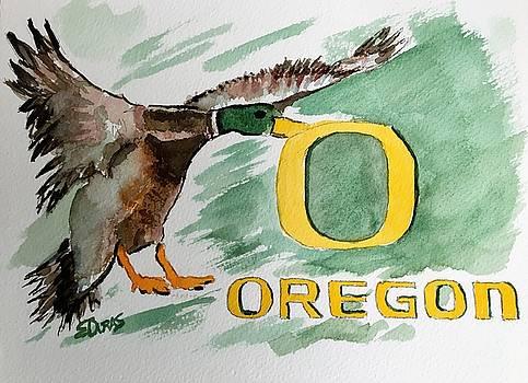 Oregon Ducks by Elaine Duras