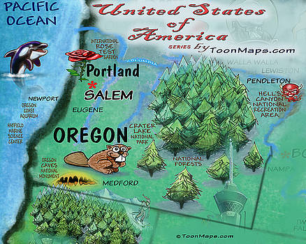 Oregon Fun Map by Kevin Middleton
