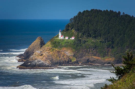 Oregon Heceta Head Lighthouse  by Michael J Bauer