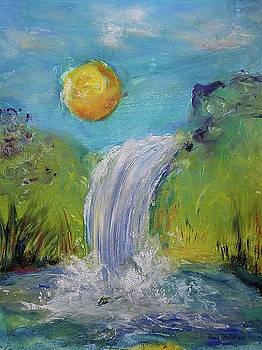 Oregon Waterfall in the Sun by Penny OHalloran