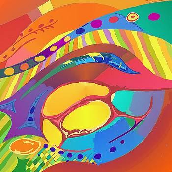 Organic Life Scan or Cellular Light - Blood by Julia Woodman