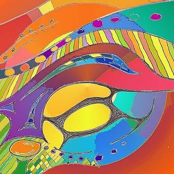 Organic Life Scan or Cellular Light - Original, Square by Julia Woodman