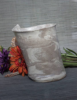 Organic Marbled Vase by Suzanne Gaff
