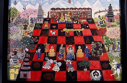 Oriental Chesspeople by Carol Shumas