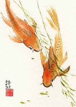 Oriental Koi by Sandy Linden