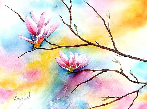 Oriental Lotus by Lucia Del