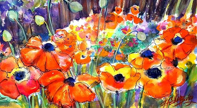 Oriental Poppies Behind Lindas by Therese Fowler-Bailey