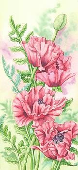 Oriental Poppy Panel by Lynne Henderson