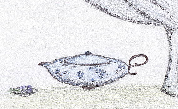 Oriental Tea Pot by Christine Corretti