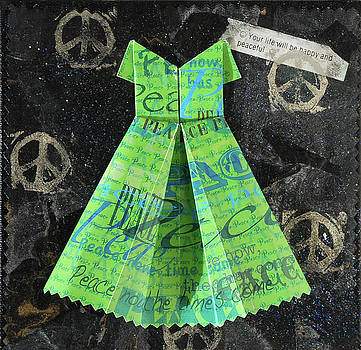 Origami Dress-green by Virginia Fitzgerald