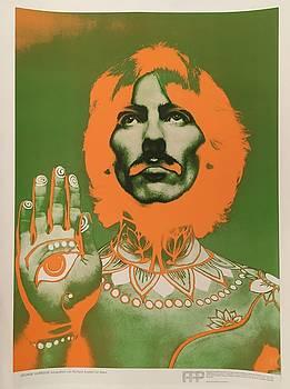 Original 1967 Richard Avedon Poster of George Harrison by Richard Avedon