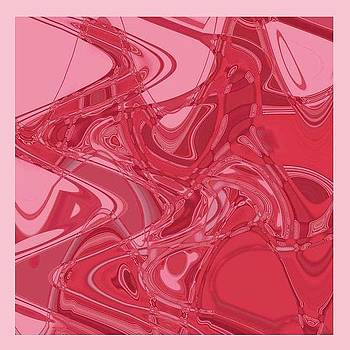 Original Abstract Pink Curve by Mohammad Safavi naini