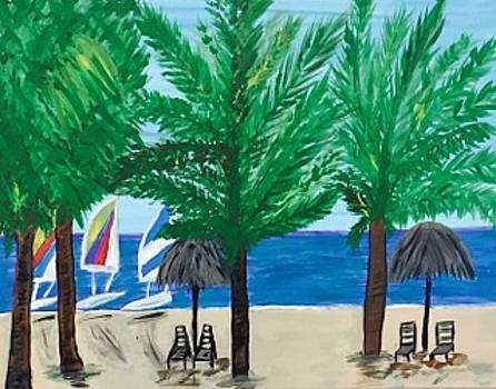 Original acrylic painting on canvas. Marco Island Florida beach. by Jonathon Hansen