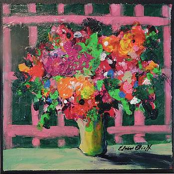 Original BouquetADay Floral Painting by Elaine Elliott 59.00 incl shipping 12x12 on canvas by Elaine Elliott