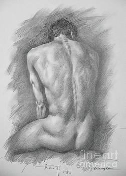 original Drawing male nude man #17325 by Hongtao Huang