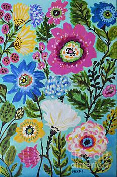 Original Flowers Painting by Karen Fields
