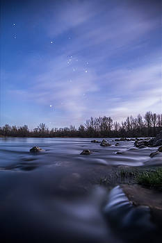 Orion above the river by Davorin Mance
