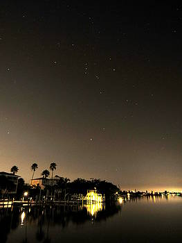 Orion Over the Bay by Ron Enderland