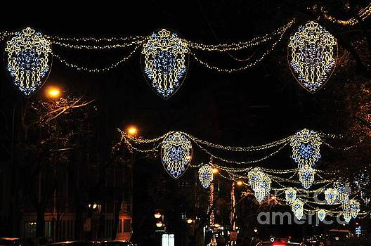 Ornamental design Christmas light decoration in Madrid, Spain by Akshay Thaker 'PhotOvation'