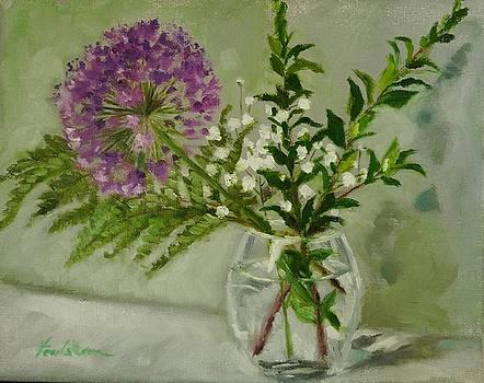 Ornamental Garlic by Veronica Coulston