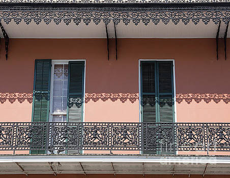 Ornate balcony in New Orleans by Louise Heusinkveld