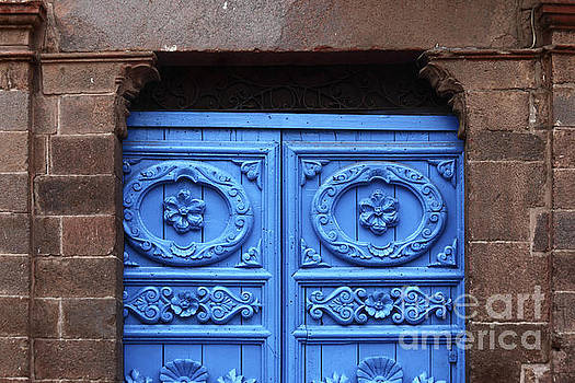 James Brunker - Ornate Colonial Door Detail Cuzco