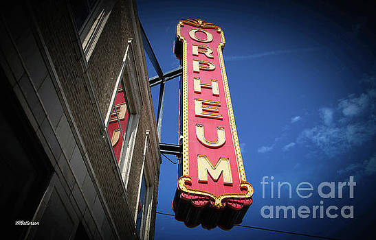 Orpheum Theatre Marquee Memphis Two by Veronica Batterson