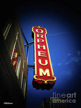 Orpheum Theatre Marquee Memphis by Veronica Batterson