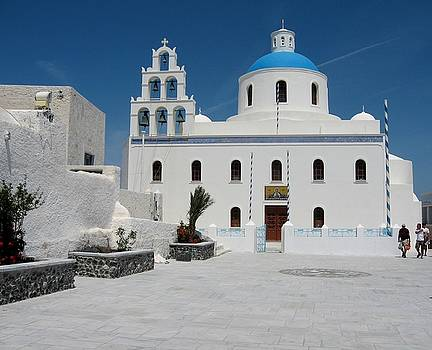 Orthodox Church on Santorini island by Yuri Hope