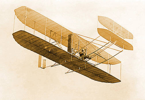 Science Source - Orville Wright In Wright Flyer 1908