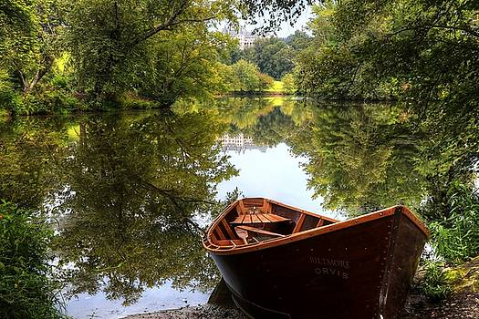 Orvis Rowboat And Biltmore Reflection II by Carol Montoya