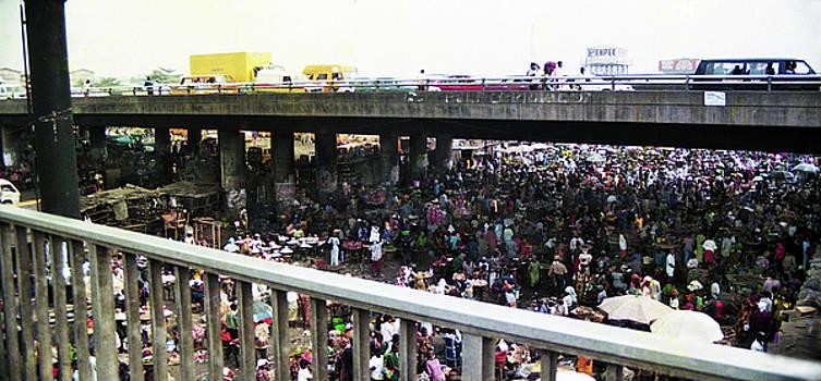 Oshodi Bridge and former market by Muyiwa OSIFUYE