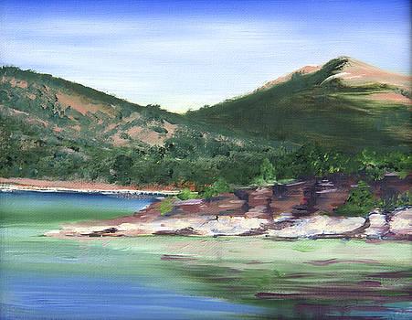 Osprey Island Flaming gorge by Nila Jane Autry