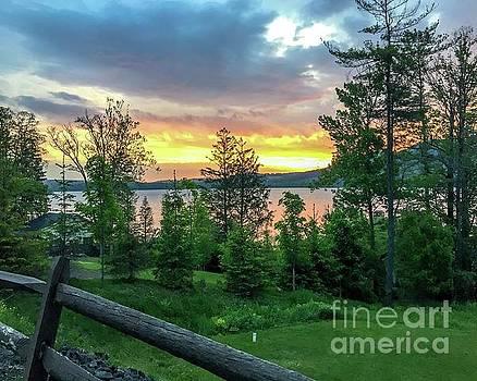 Otstego Lake Sunset by DJ Laughlin