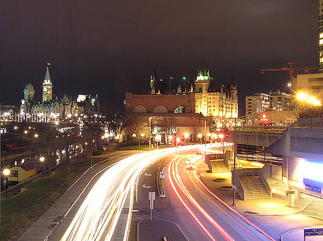 Ottawa at Night by Richard Mitchell