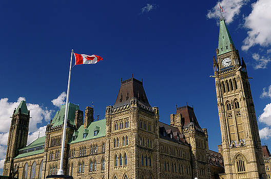 Reimar Gaertner - Ottawa Parliament Buildings Center Block with Peace Tower and Ca
